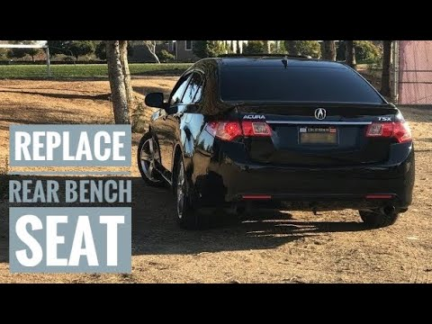 2011 ACURA TSX REAR BENCH SEAT REMOVAL