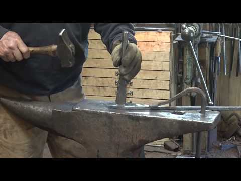 Blacksmith forged fire poker without forge welding