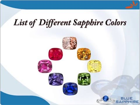 List of Different Sapphire Colors