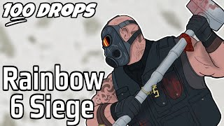 I Dropped Rainbow Six Siege 100 Times And This Is What Happened