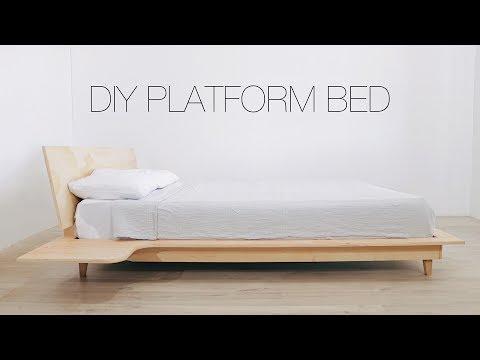 DIY Platform Bed With Build-in Nightstands | Modern Builds