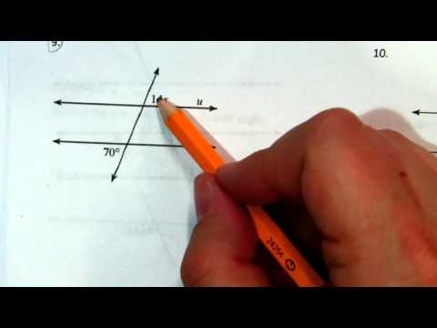 Parallel Lines and Transversals: Finding Angle Measures Part 1