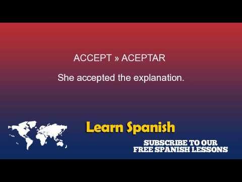 Accept in Spanish
