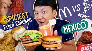 Mexican KFC vs. McDonald's SPICIEST Fried Chicken! Mexico Fast Food Review