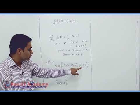 Set Relation Function Maths Part-7 std 11th HSC Board Video Lecture BY Rao IIT