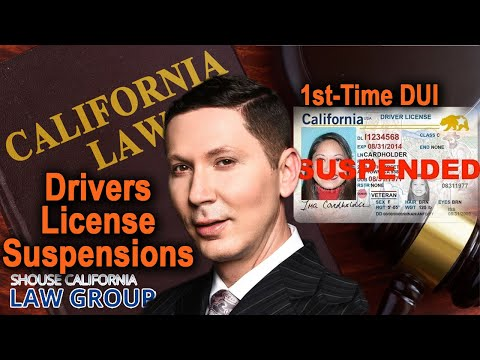 California DUI: 2 ways to get your license suspended