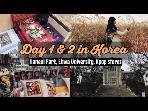 [DAY 1&2] TRAVEL AND SHOP IN KOREA! Myeongdong, Kpop stores, Hongdae, Ehwa University, etc!