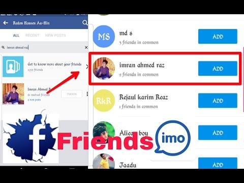 How To get Facebook Friend On Imo
