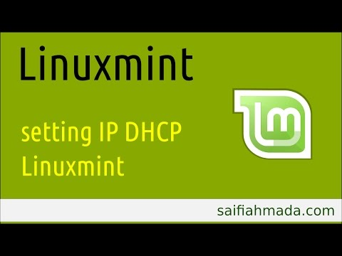linuxmint set ip ethernet DHCP