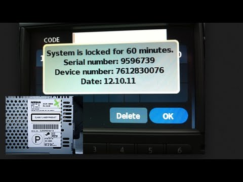 Nissan Radio Codes From Serial Number Juke Qashqai Almera Micra Note X-Trail