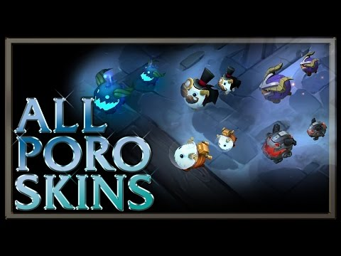 All Poro Skins (from Legend of the Poro King Game Mode) - League of Legends