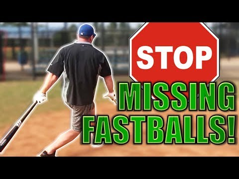 How to STOP missing fastballs and GET MORE BASE HITS!