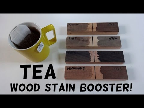 DIY Tea Wood Stain Booster!