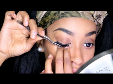 HOW TO APPLY FALSE LASHES FOR BEGINNERS QUICK AND SIMPLE  | BEAUTY BASICS