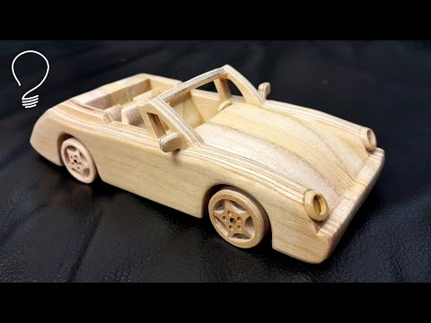 Wooden Porsche 911 Cabrio
