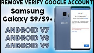 How to BYPASS GOOGLE Account (FRP) on Samsung Galaxy S9 Plus