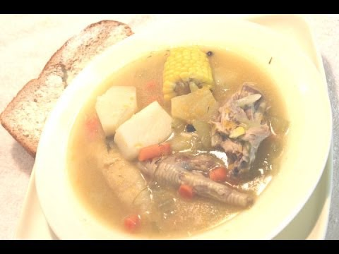 HOW - TO MAKE REAL JAMAICAN CHICKEN FEET / FOOT SOUP 2013 Using Veggie