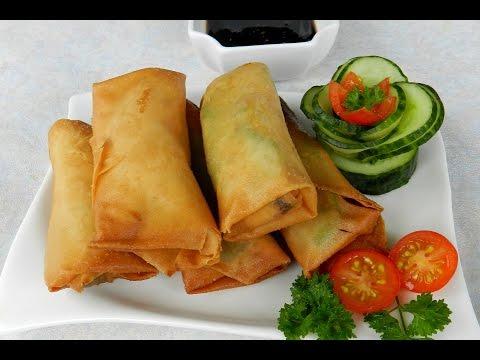 AVOCADO SPRING ROLLS   Mak Gembul Recipe Video - Crispy Avocado Carrot Spring Rolls
