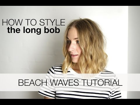 Beach waves for the long bob