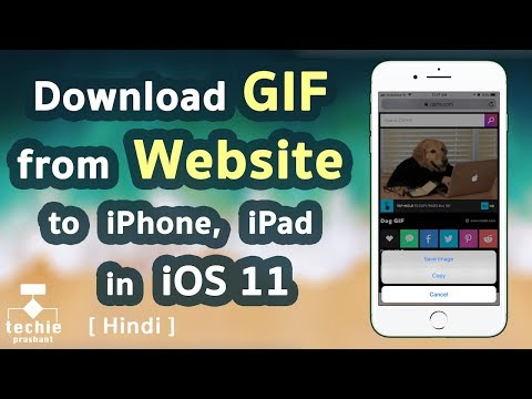 How to Download GIF from Website to iPhone, iPad in iOS 11. HINDI