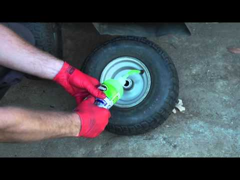 How to fix flat tire using Slime