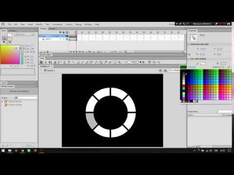Tutorial Adobe Flash CS6 #  Make a simple loading animation