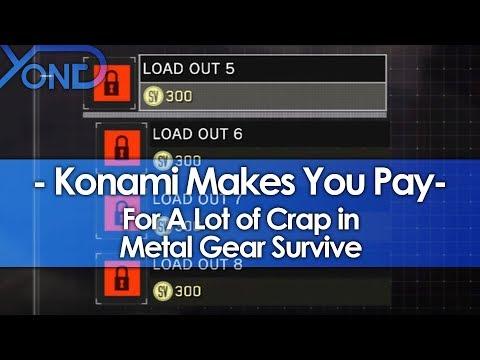 Konami Paywalls Extra Weapon Storage & Loadouts in Metal Gear Survive