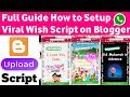 How To Make Wishing Sites On Blogger  How To Upload Wishes Whatsapp Viral Script On Blogger