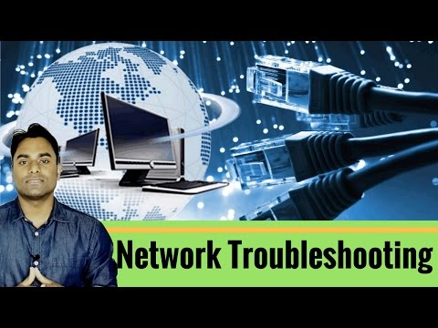 [Hindi] What\How do use IPCONFIG,PING and TRACERT command in  Network Troubleshooting