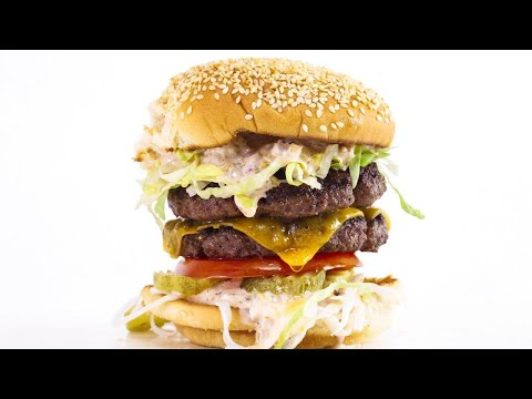 Double Cheeseburger with Thousand Island Dressing and Truffle Fries