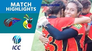 ICC Women's Qualifier 2019 – EAP: Samoa v PNG highlights