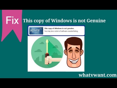 How to make windows genuine (Easy Fix)   Windows 7 is not genuine(Error Message)