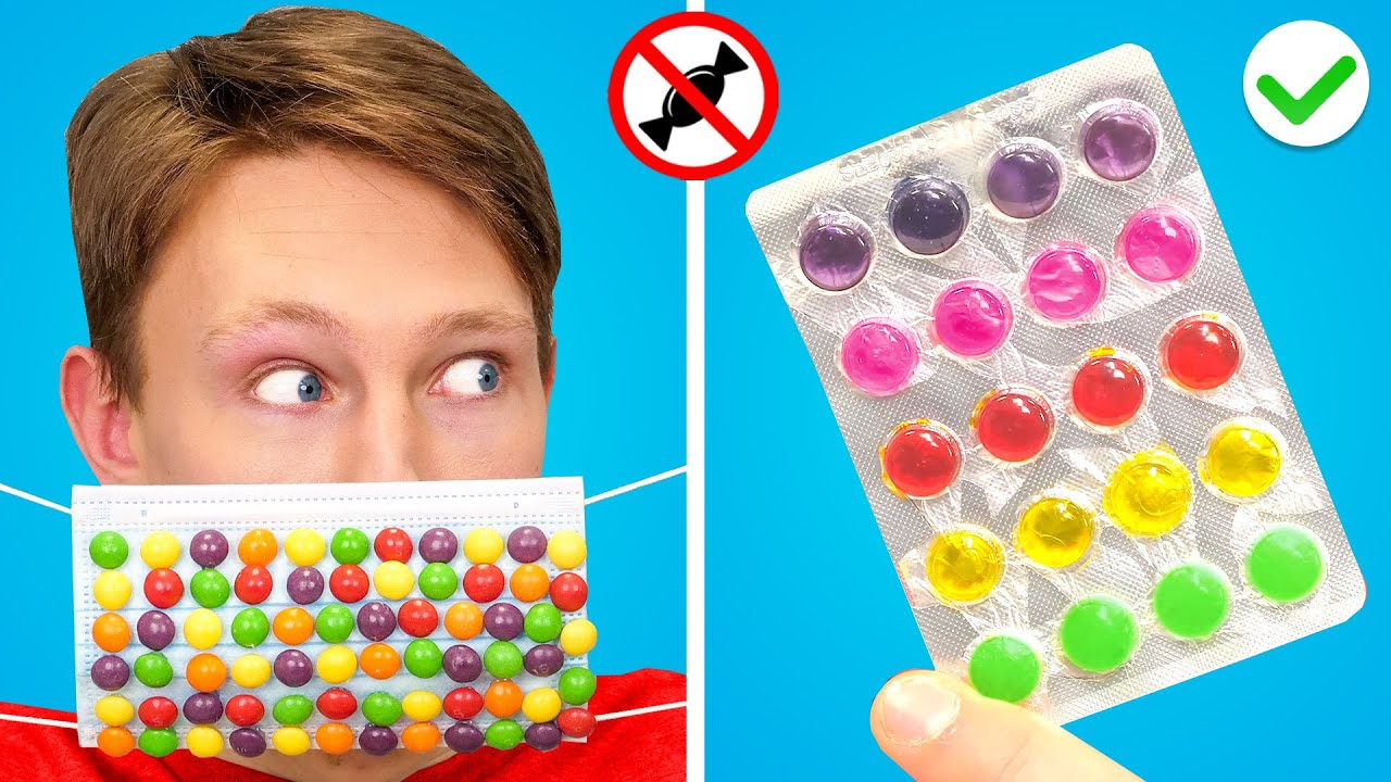 9 FUNNY ways to SNEAK FOOD into the HOSPITAL! Awesome Food Sneaking Ideas by GOTCHA!