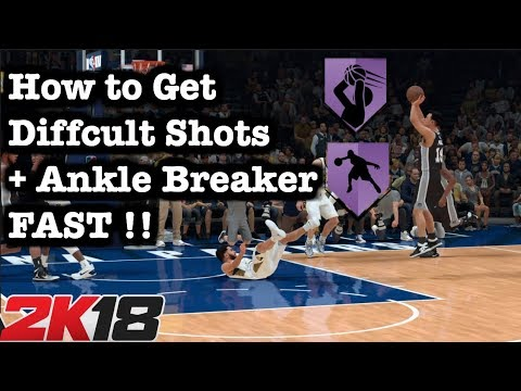NBA 2K18 How to get Difficult Shots Badge Tutorial: Fastest Way How to get all badges 2K18 #6