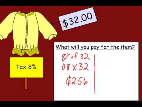Calculating Sales Tax