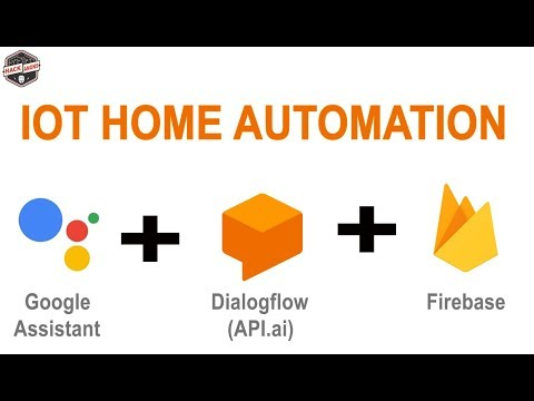 IOT with Firebase : Home Automation Light Control Using Google Assistant Api.ai Dialogflow Firebase