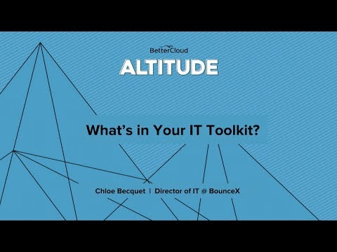 Altitude 2018: What's in your IT Toolkit
