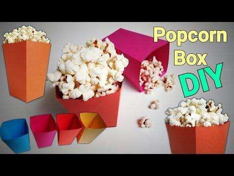 Popcorn Box | How To Make Popcorn Boxes | DIY Popcorn Box | Mini Popcorn box | Paper Popcorn Box