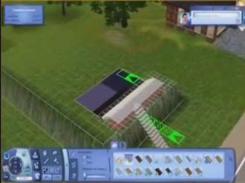 The Sims 3. Construction of underground houses.