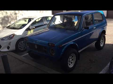 Lada Niva 4x4 Door glass disassemble repair manual