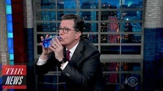 Trump's Awkward Press Conference Water Break Mocked by Late-Night Hosts | THR News