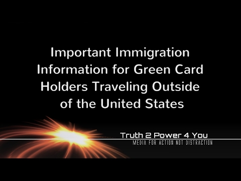 Travel Tips for Green Card Holders