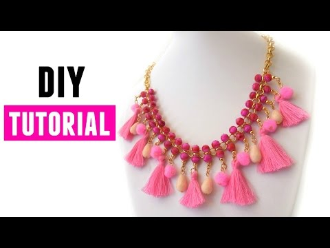 How To Make A Statement Necklace  - DIY Jewelry making