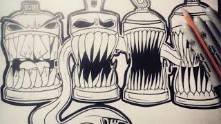 Cmo dibujar Latas de spray Diseos Fciles Graffiti  Download