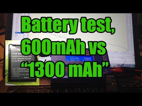 Battery test: IPod mini 600mAh and