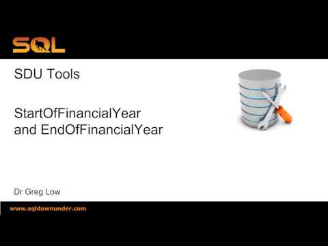 SDU Tools 34   Calculate start and end of Financial Year dates in T-SQL
