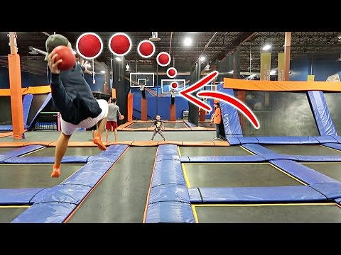IMPOSSIBLE TRAMPOLINE BASKETBALL TRICK SHOTS!!