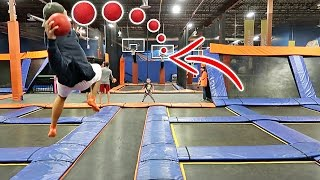 Download IMPOSSIBLE TRAMPOLINE BASKETBALL TRICK SHOTS!! Video