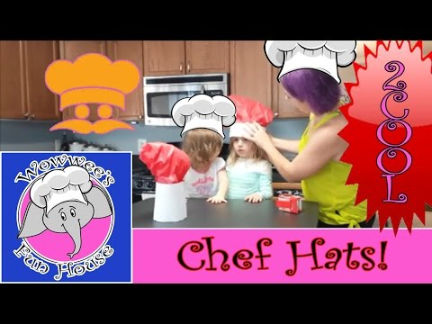 Learn how to make really cool chefs hat!!!