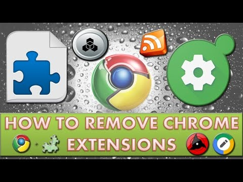 How to remove extensions from Google Chrome?